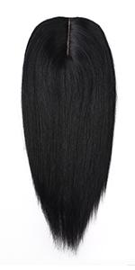 Clip in hair topper