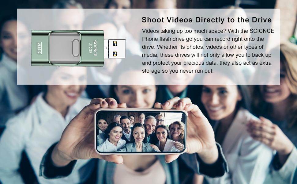 phone picture storage device phone usb flash drive phone flash drive memory stick for phone 512gb