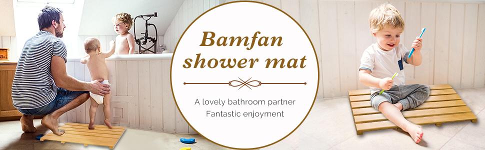Bamfan shower mat