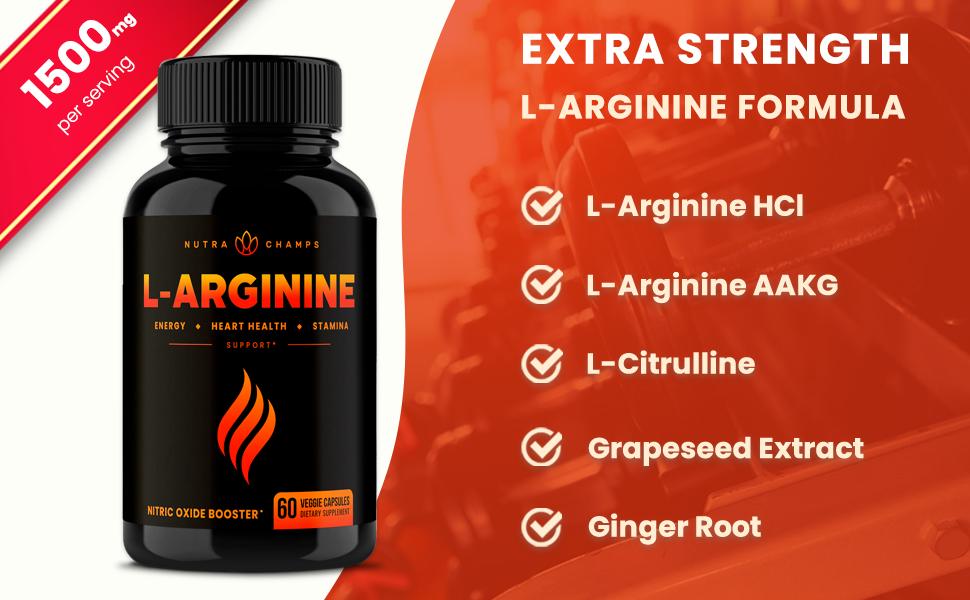 nitric oxide l arginine amino acid supplement