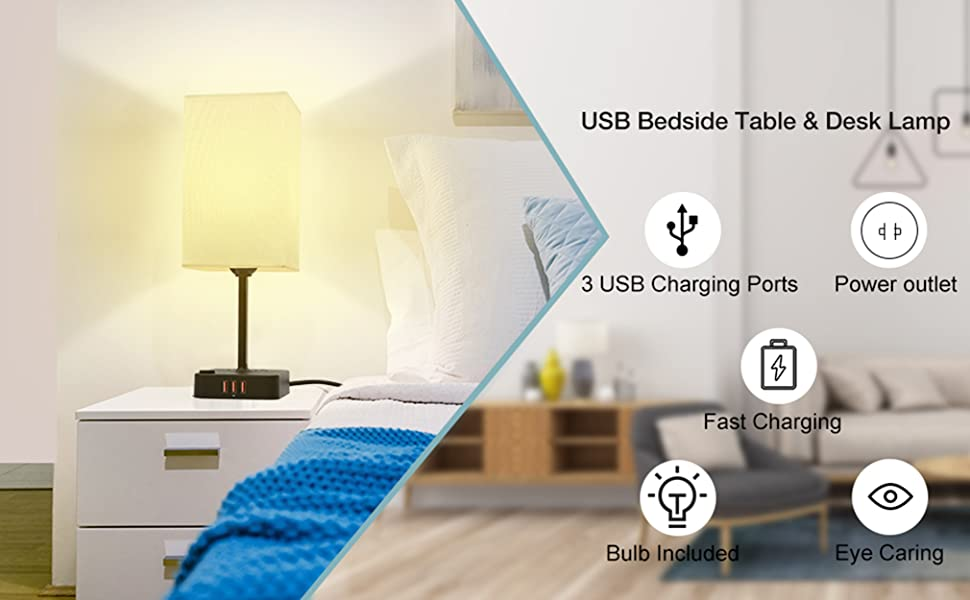 usb and outlet lamp