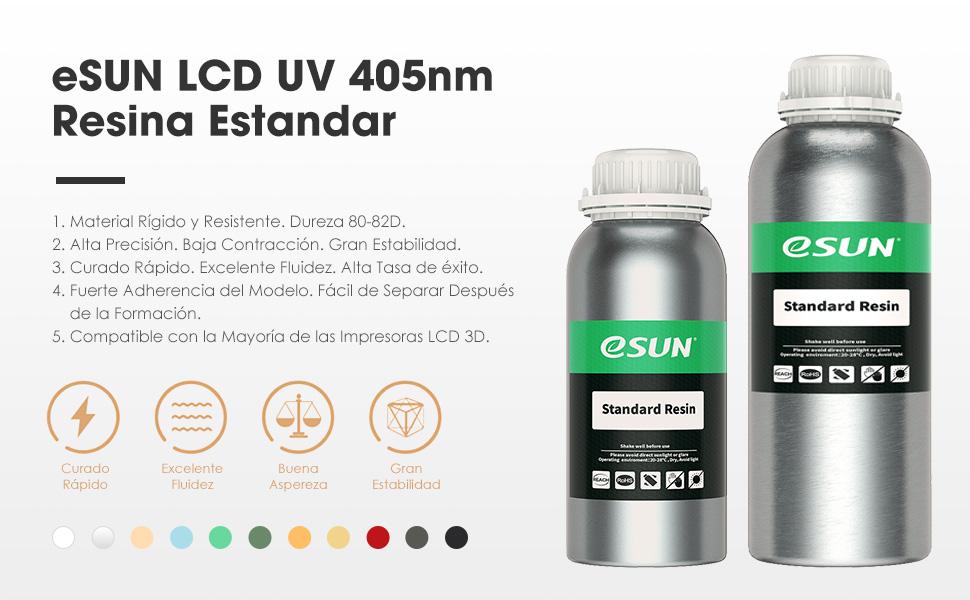 eSUN LCD UV 405nm Resina Rápida Resina Estandar para Impresora 3D ...