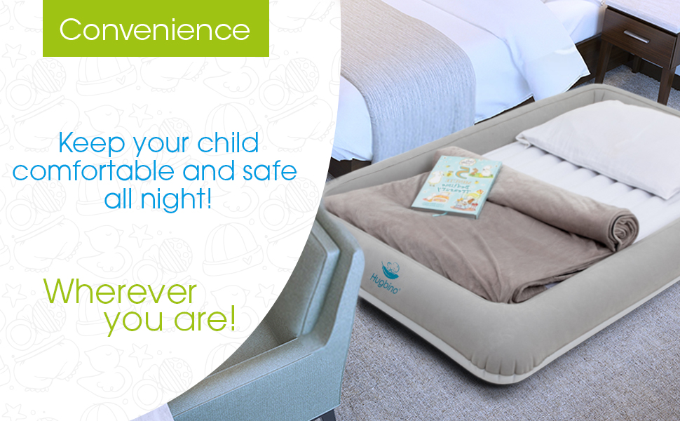 Comfortable travel bed for kids, toddlers, super-soft, durable, portable, lightweight