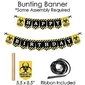 Quaranteen Birthday Party Kit; Quarantine Shelter in Place Bundle