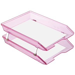 acrimet facility letter tray 2 tier front load clear blue color