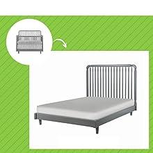 Kennedy Crib in Grey