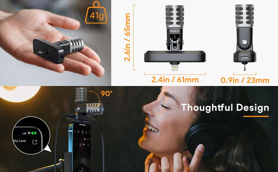 Lightning Microphone for iPhone/iPad
