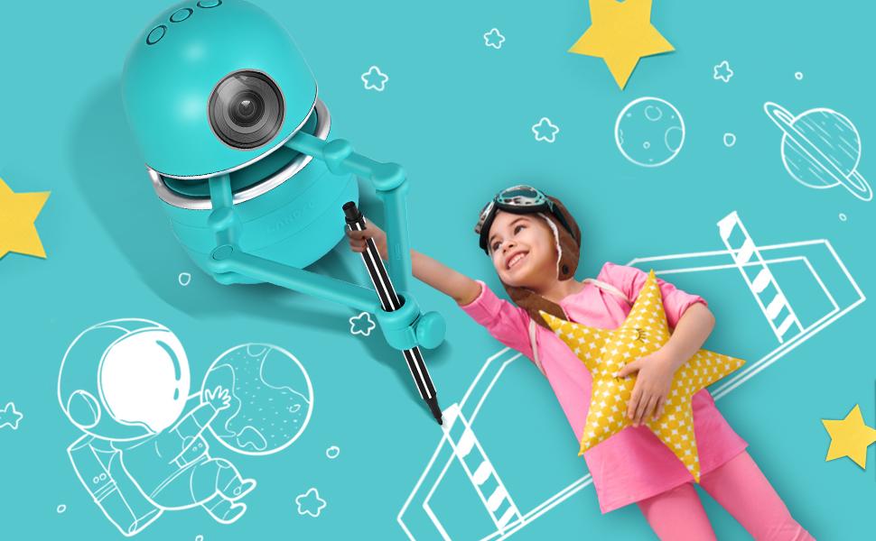 TTLIFE Robot Artist Juguetes educativos con 4 Libros 38 Tarjetas y 2 bol/ígrafos Que Arte Inteligente Robot de Dibujo autom/ático USB Robot Educativo de Juguete ni/ños