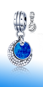 I Love You to The Moon and Back Pendant fits Pandora Charm Necklaces