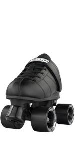 Crazy skates rocket roller skate for men boys teen speed rink quad classic black derby street rink
