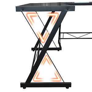 l-shaped desk Stable Triangle Structure