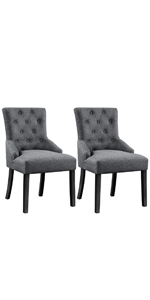 Yaheetech Wingback Dining Chair