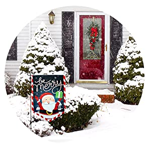 Amazon Com Joyousa Christmas Garden Flag 12x18 Christmas Flag Outdoor Weather Resistant Artist Rendered Xmas Christmas Garden Flags Double Sided Winter Yard Decorations Holiday Banners Outdoor Garden Outdoor