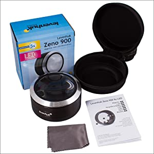 LED Light and Storage Case Comes in Classical Design Levenhuk Zeno 50 Lightweight Magnifier with 2 Lenses