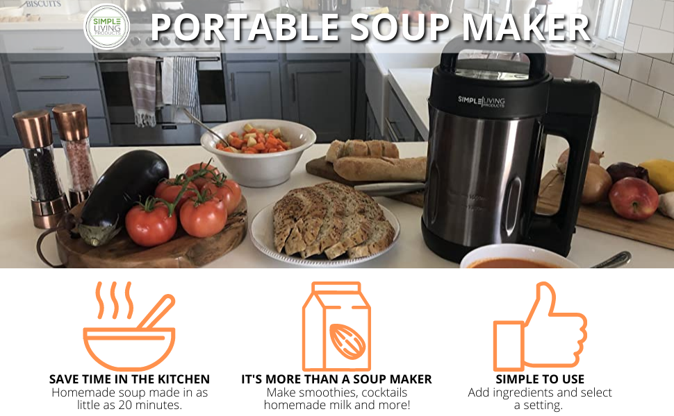 Simple Living Products Soup Maker SLP-SM-SB1