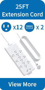 6 outlets surge protector