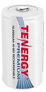 D size rechargeable batteries