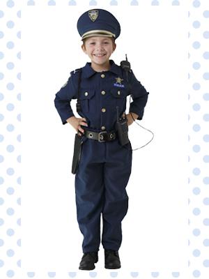 Kids Costume Police garçons filles policier fliquesse Flic Uniforme Robe Fantaisie