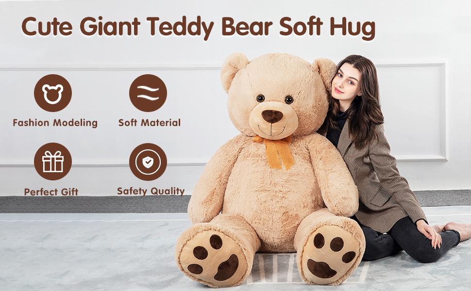 cute giant teddy bear brown
