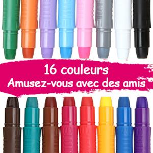 crayons de 16 couleurs vives