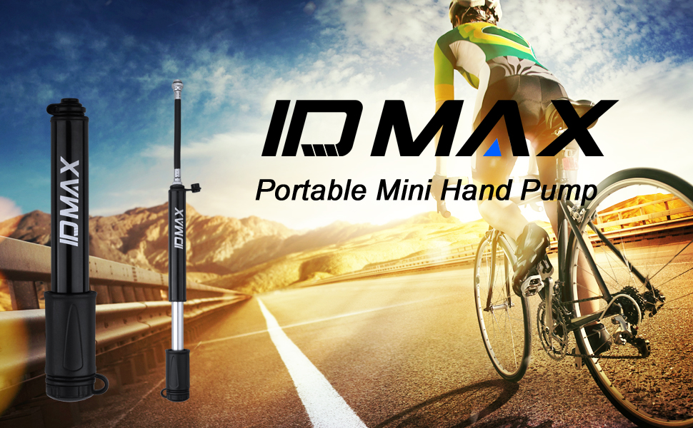 Portable Mini Cycling Bike Pump Bicycle Tyre Inflator Ball Pump With Mount US ca