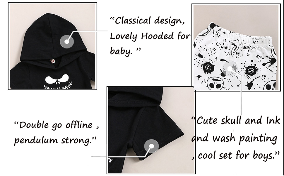 nightmare before christmas baby clotheskids pajamastoddleroutfits 2tboy onsie sets3t4t5t6t clothing