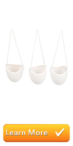 Set of 3 Rustic Clay Wall-Hanging Mini Planters