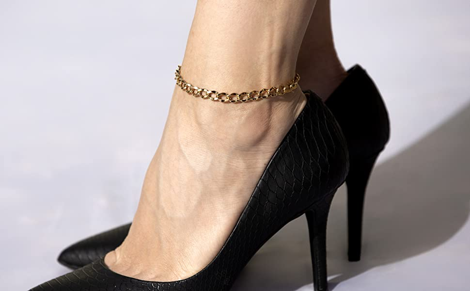 anklet bracelet for women gold anklet shell anklet pura vida anklet silver anklet 10k 14kt 18kt 24kt