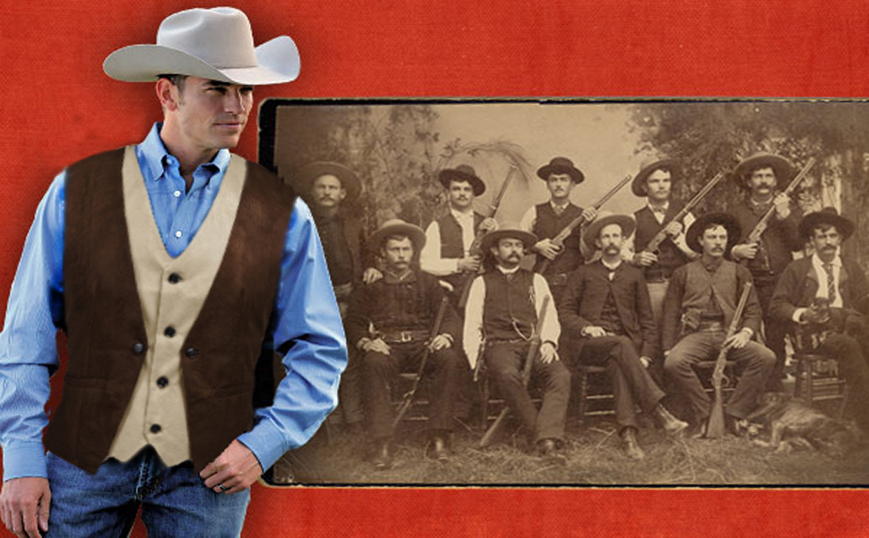 cowboy style suede leather vest