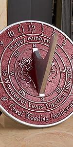 35th coral Anniversary Sundial