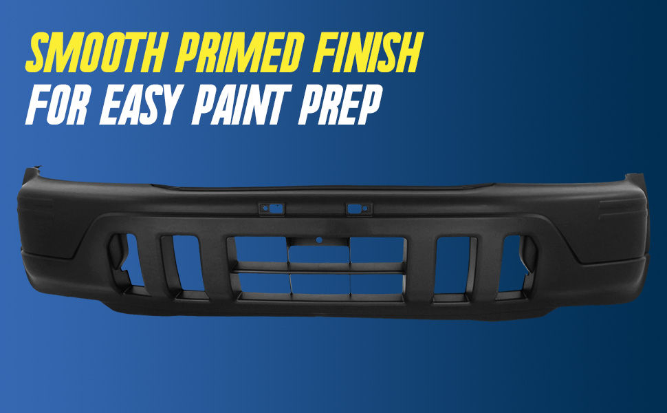 Smooth Primed Finish for easy paint prep