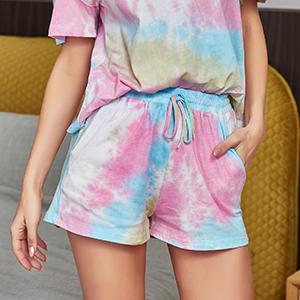 womens pajamas tie dye