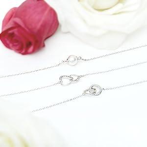 Jewelcandle bougie parfumées bijoux fantaisie cadeau bracelet argent Sterling 925 plaqué or rose