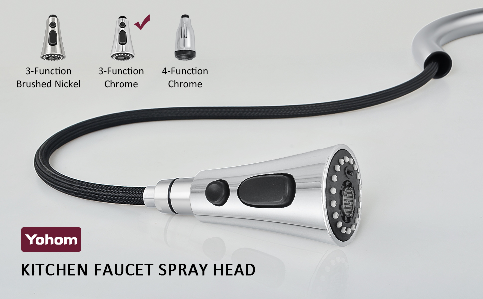 Kitchen Faucet Spray Head Replacement Pull Down Sprayer Head Sink Faucet Nozzle Pull Out Sprayer
