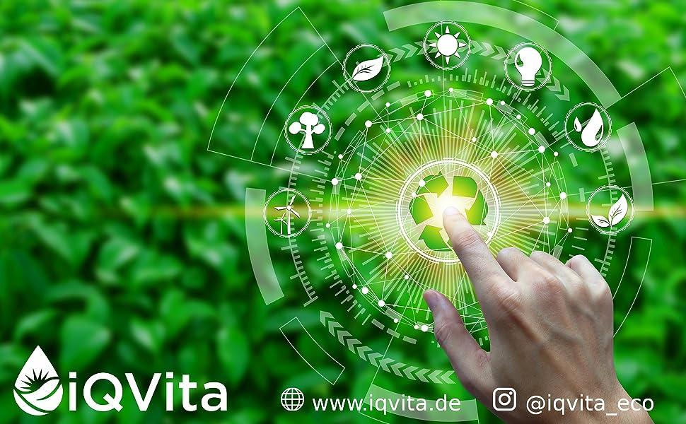 Nachhaltige Technologien und iQVita Logo