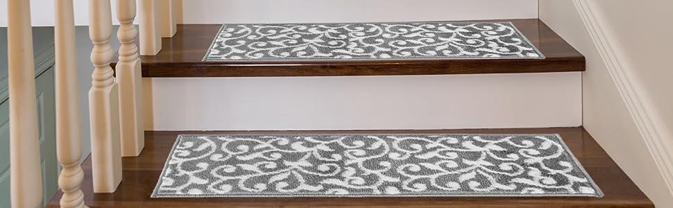 Chêne Stair Treads-Système 2-Première Classe européenne Chêne-Top qualité-Gris