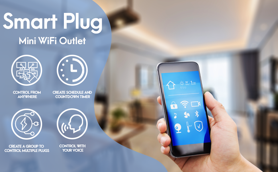 smart mini wifi outlet plug ebryte