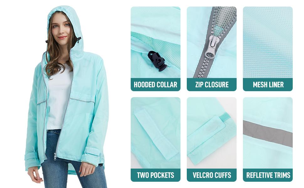 women raincoat