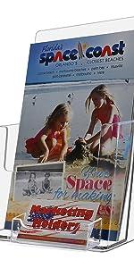 Marketing Holders Bi-fold Brochure Holder with Business Card Holder
