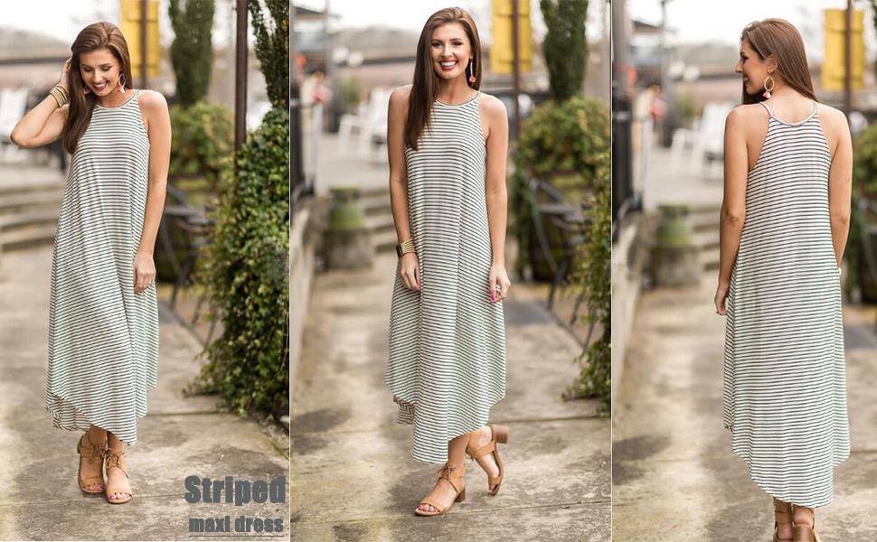 sleeveless spaghetti strap dresses for women long dress bohemian sundress beach cover up dress