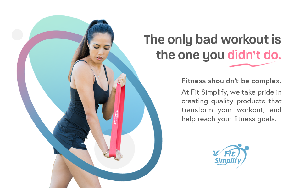 Fit Simplify exercise bands resistance bands workout equipment rubber bands for workout stretch band