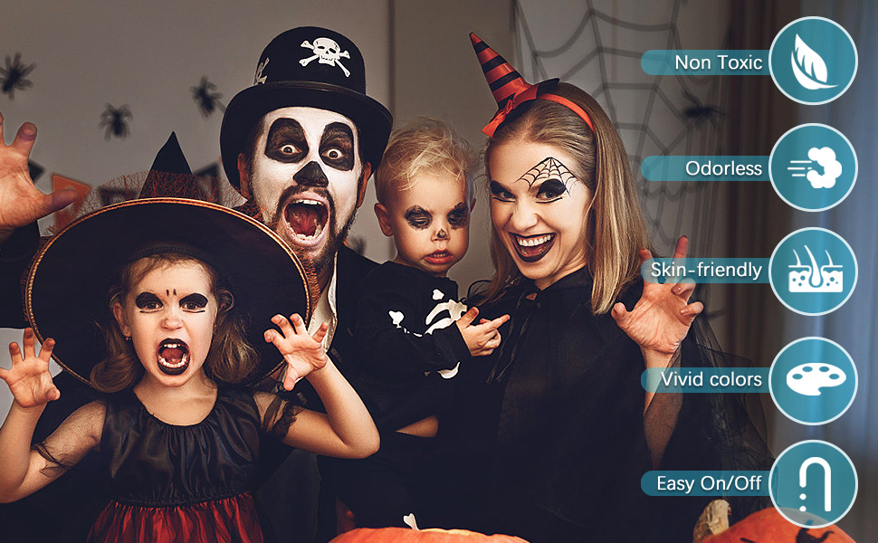 face paint Halloween makeup face painting kits for kids body paint body paints for adults