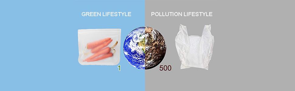 Bolsas de Silicona de Alimentos Reutilizables(10Pack)-Sin BPA ...