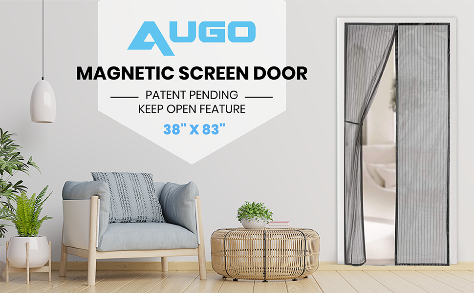 Magnetic Screen Door, Mesh Screen Door, AUGO, Flux, fly screen, bug screen.