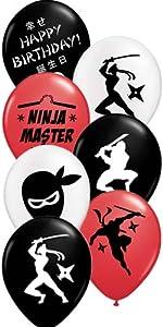 gypsy jades ninja party latex balloons birthday