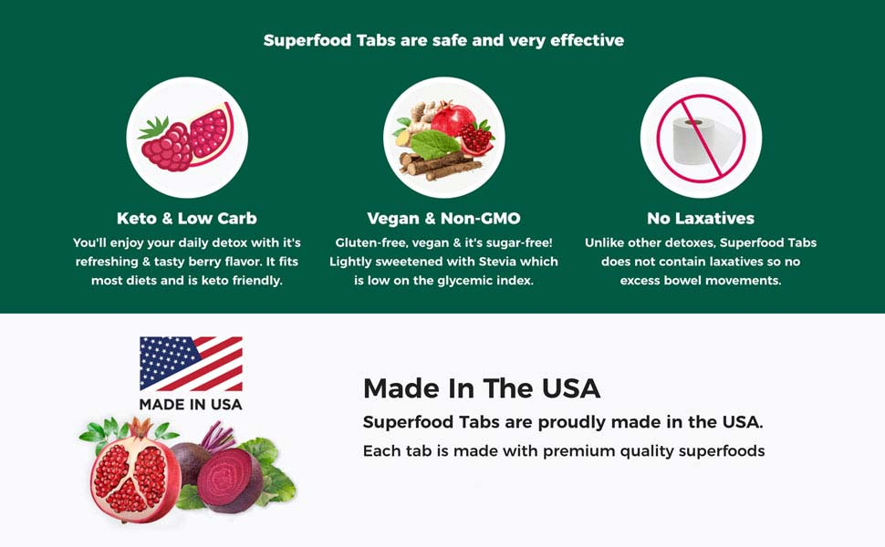Benefits of Superfood Tabs, Superfoods