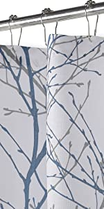 Blue White Shower Curtain