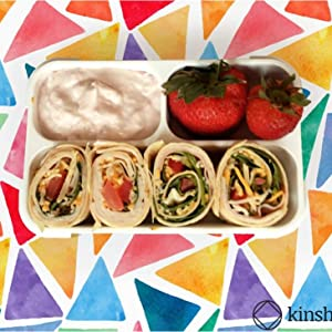 kinsho small bento snack containers 3 compartments for over 2 cups of lunch food or snacks