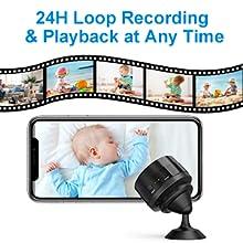 Flashandfocus.com 1fa33e1d-d0ee-4853-b3a4-cbf763d44d0a.__CR0,0,300,300_PT0_SX220_V1___ Mansso Mini Hidden Camera - 1080P Wireless WiFi Nanny Cam Home Camera,Small Portable Camera with Watch Band,Micro…