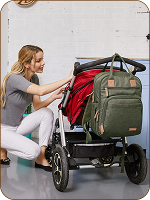 iniuniu large baby diaper bag backpack army green for parents mom and dad